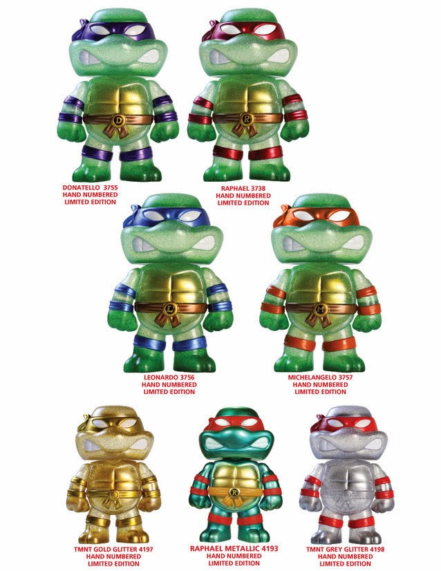 Teenage Mutant Ninja Turtles Hikari Japanese Vinyl Figures by Funko - Leonardo, Donatello, Raphael & Michelangelo