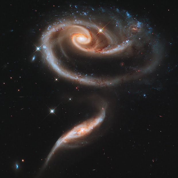 Arp 273, a rose of Galaxies to celebrate Hubble's 21st Anniversary