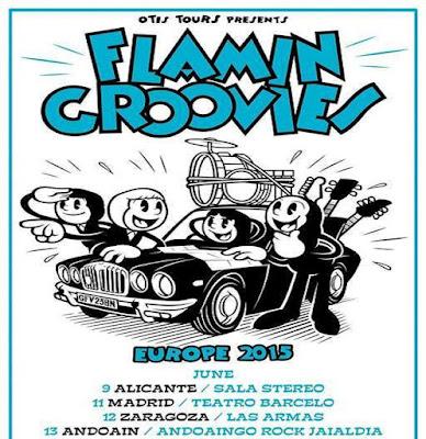 FLAMIN GROOVIES - Gira Junio 2015