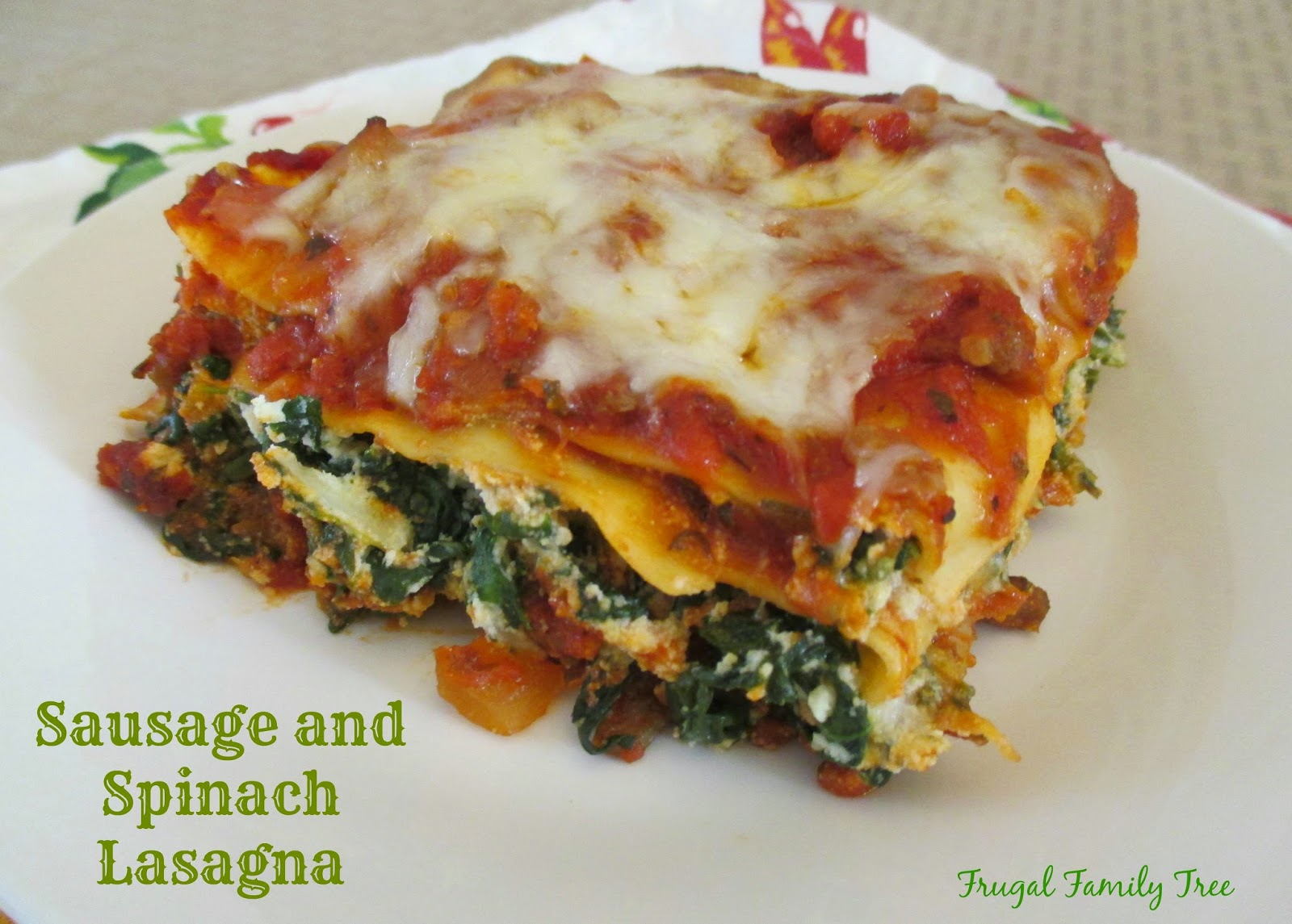 Sausage and Spinach Lasagna Made With Heinz Classico ...