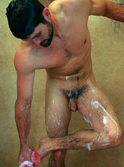 Male shower nude tips