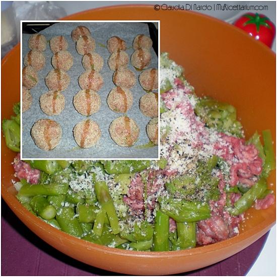 Polpette con asparagi