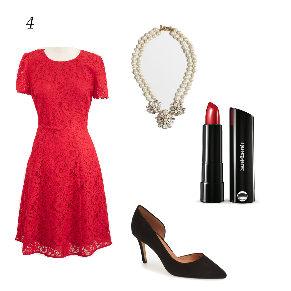 Black dress red heels accessories - It S Classy Festive And Looks Great On Most Skin Tones Pair It With Some Crystal Accessories And A Red Lip And You Have Yourself An Outfit
