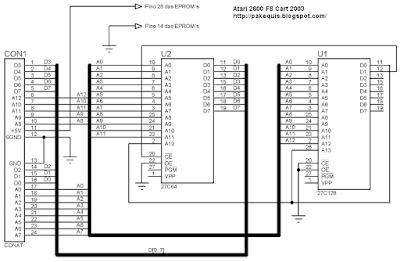 Atari esquema cartucho F8