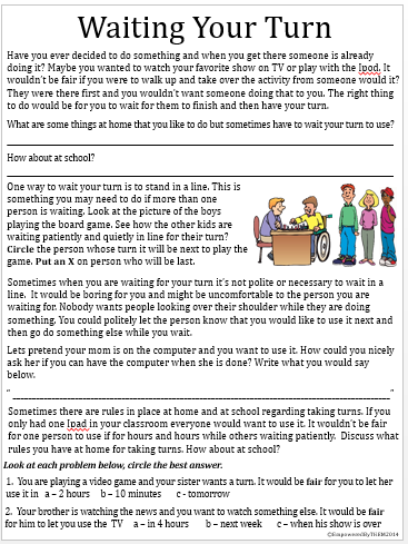 Social Skill Worksheets Free Worksheets Library | Download and ...