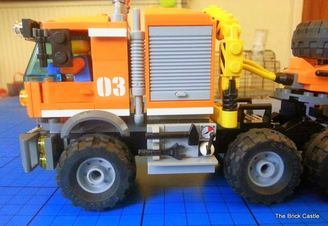 LEGO brick Articulated trailer lorry cab and driver