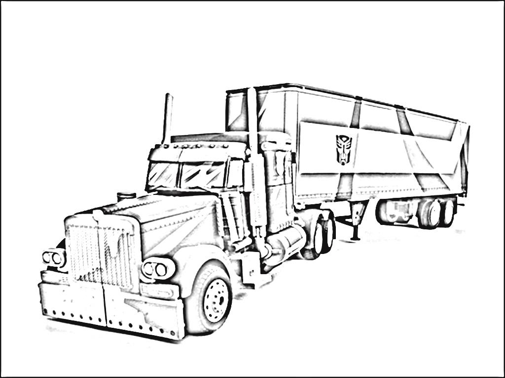 gambar truck coloring pictures picture gambar belajar mewarn