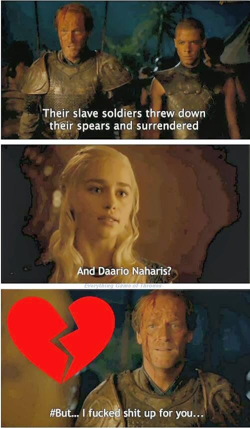 Jorah corazón roto - Juego de Tronos en los siete reinos