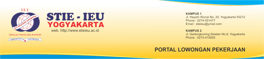 Portal Lowongan Pekerjaan STIE IEU Yogyakarta