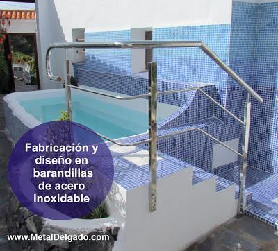Acero inoxidable tenerife fabricaci n de barandas de piscinas tenerife - Fabricacion de piscinas ...
