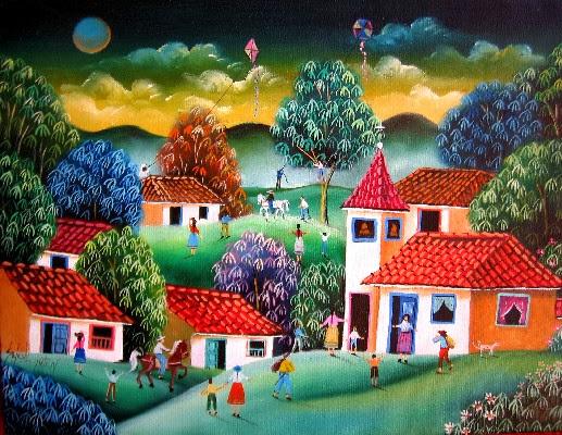 pinturas-al-oleo-con-casas