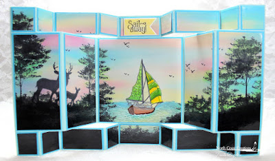 North Coast Creations Stamp sets: Sail Away, Deer Silhouette Greetings, Our Daily Bread Designs Custom Dies: Pennants, ODBD Fun and Fancy Fold Double Display