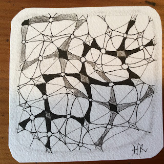 Diva Challenge #234, CanT, Monotangle, Zentangle, Light to go places