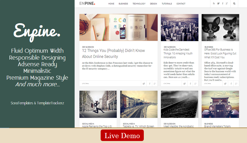 Enpine. Blogger Template