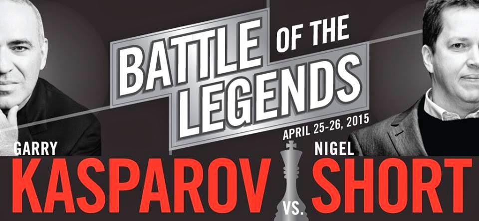 Kasparov vs Short les 25 et 26 avril