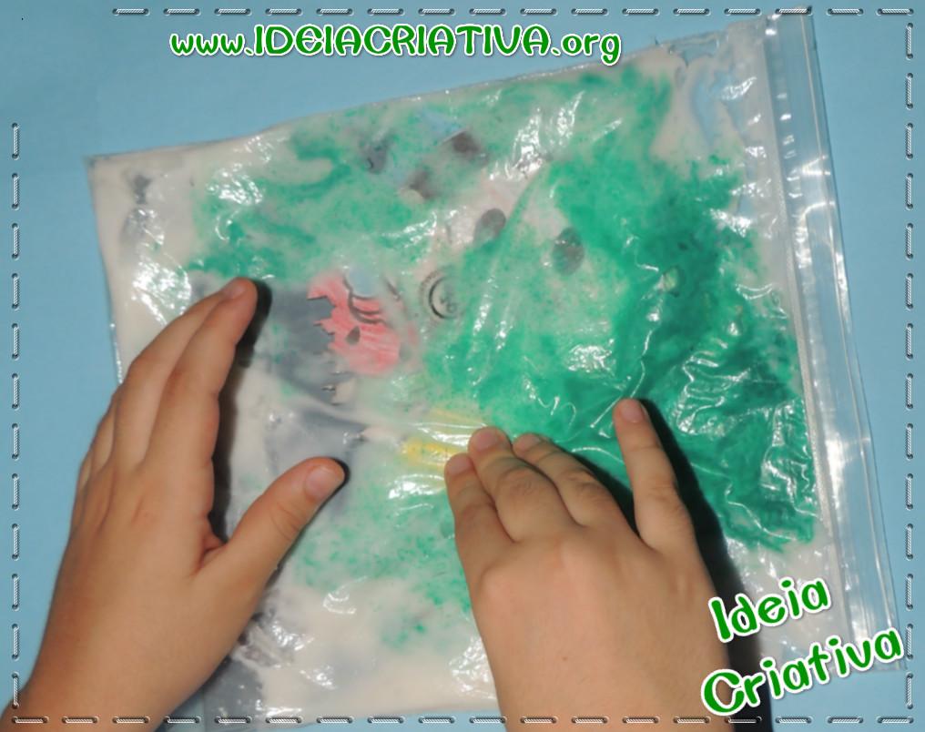 Atividade Sensorial Textura Educação Infantil com Saquinho Ziplock