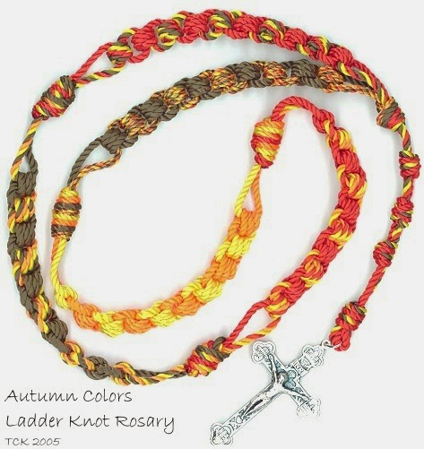 Autumn Scrap Knot Ladder Rosary