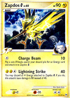 Zapdos Pokemon Card Arceus Set