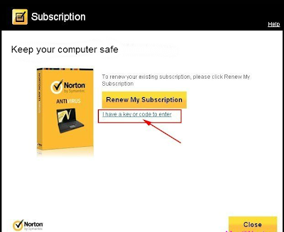 Norton Antivirus 2013 - Renew My Subscription