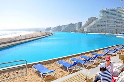 bassein 0020 أكبر و أنقى حمام سباحة في العالم بتكليف خمسة بلاين جنية استرليني  في تشيلي