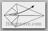 Bước 5: Mở và kéo hai lớp giấy ở bên trong ra.