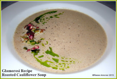 Glamorosi Recipe: Roasted Cauliflower Soup