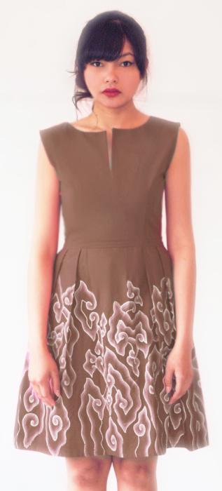 Mega Mendung Model Baju Dress Batik Modern Wanita