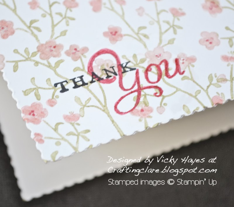 Get free Stampin' Up hostess set from Vicky at Crafting Clare's Paper Moments