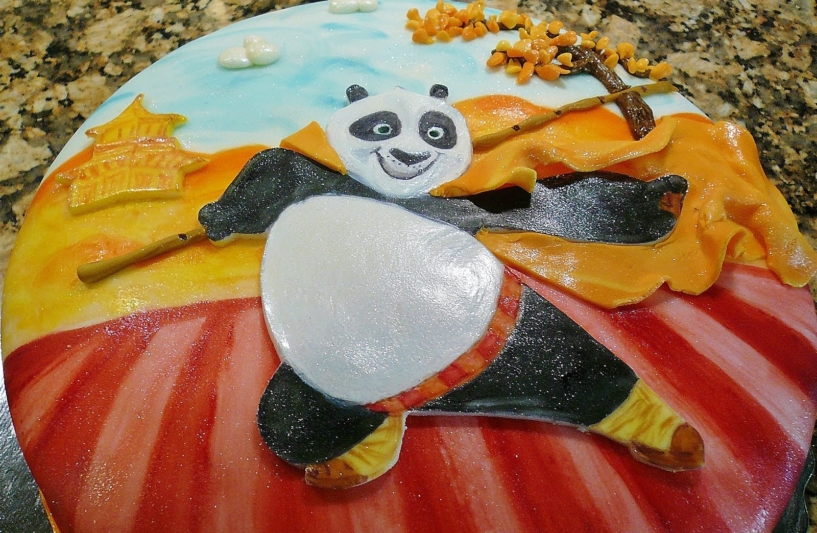 Sweetie Cakedesigns Kung Fu Panda Birthday Cake