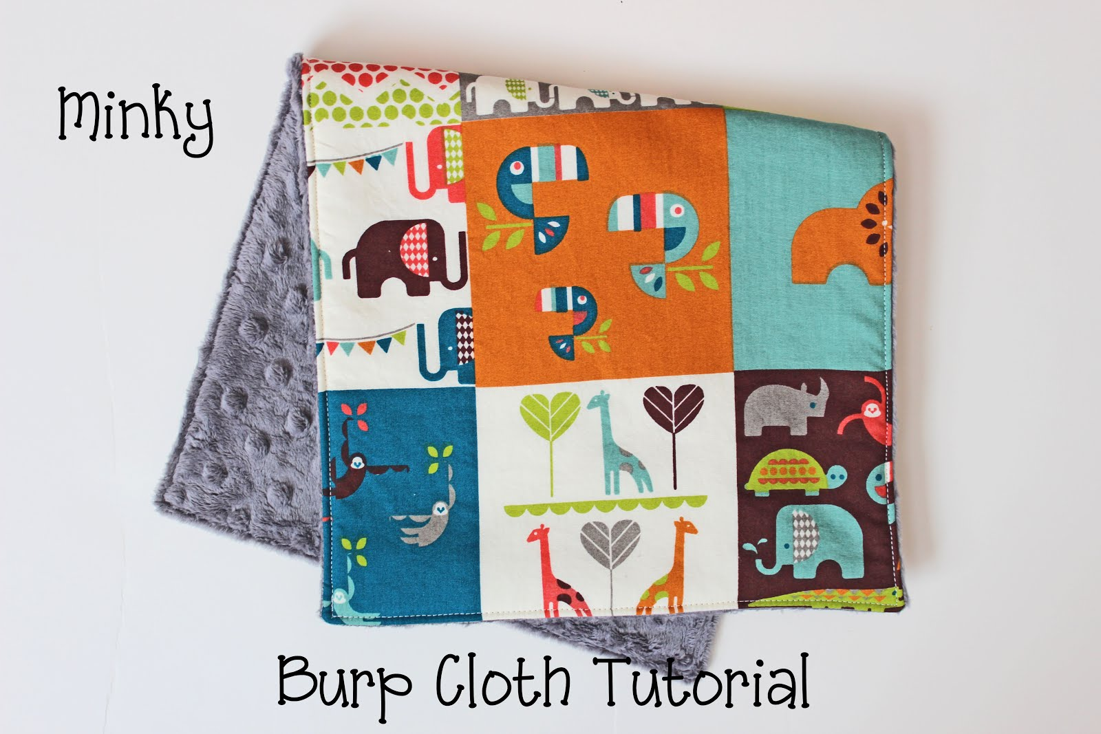 The bailey girls minky burp cloth tutorial step 1 cut out a rectangle from your cotton fabric in the measurement that you want the finished burp cloth to be plus 12 i cut mine 17 12 long by 9 baditri Image collections