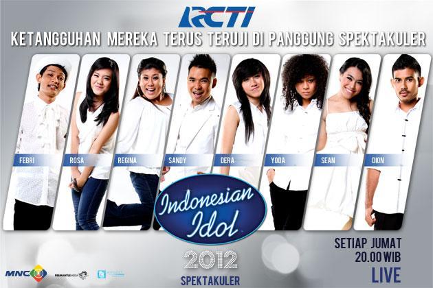 Hasil Indonesian Idol Spektakuler Show 6
