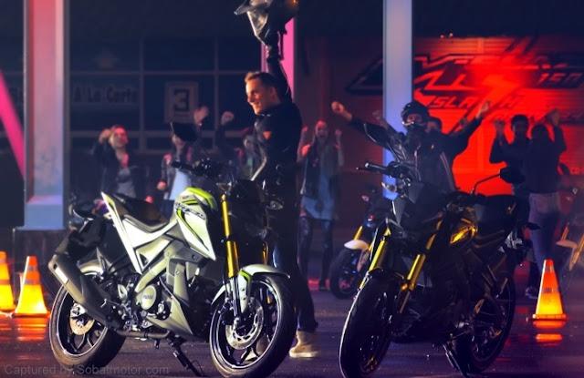TVC Yamaha M-Slaz Thailand dibintangi oleh Bradley Smith dan Pol Espargaro . . wahh jadi semakin jelas nih fiturnya