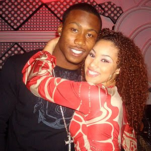 Brandon Marshall and Rasheeda Watley during what appears to be one of their few happy moments
