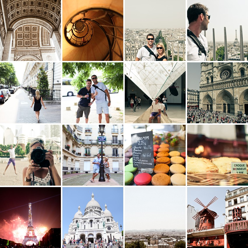 collage of paris photo