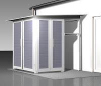 Das Dach lässt sich einfach umdrehen. So wird der Garten[Q] zum idealen Anbau an z.B. eine Garage