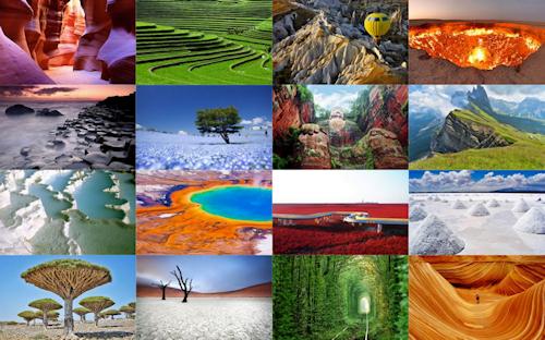 Paisajes naturales y escenarios naturales
