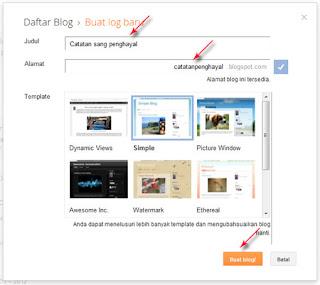 Cara Membuat Blog di blogger / blogspot Terbaru