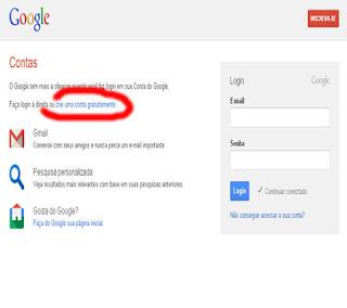 criar conta grátis google