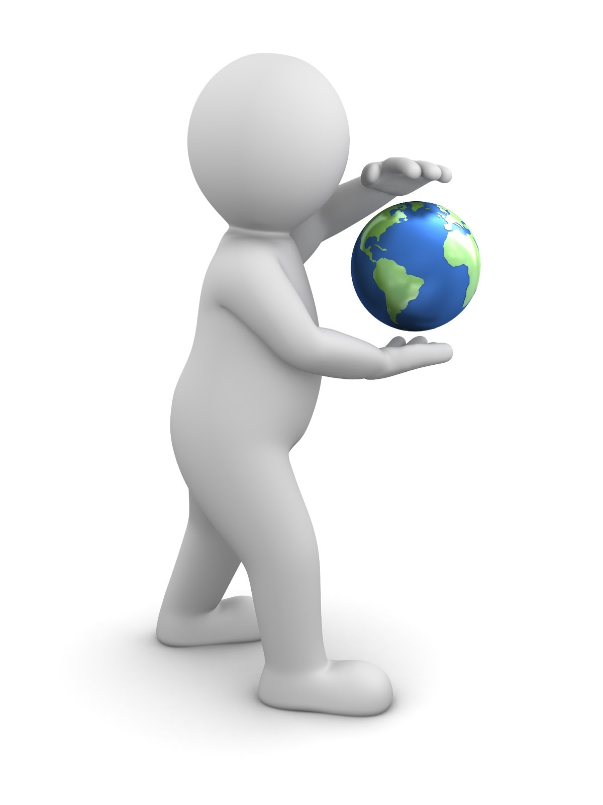 free stock photos download  3d man holding earth in his hands