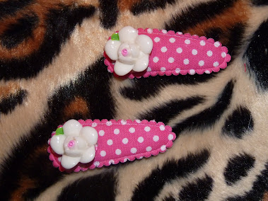 pink polka dot haircandy
