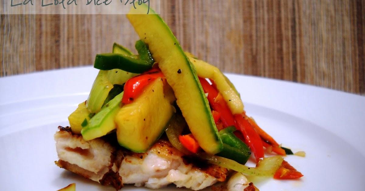 Pescado con verduras en juliana la lola dice for Que cocinar con verduras