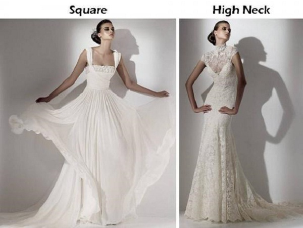 White rose weddings celebrations events lets talk more for Wedding dress neckline styles