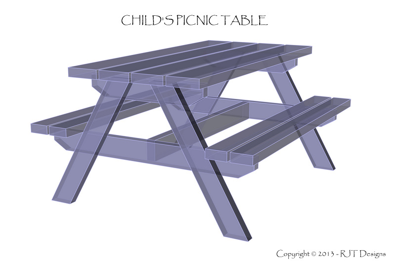 Permalink to plans to build a child's picnic table