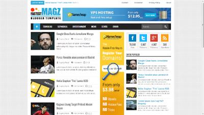 Download Template Blog SEO Fastest Magz Keren Terbaru