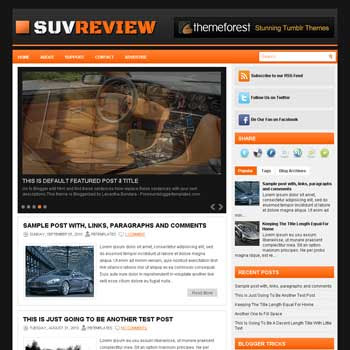 SuvReview blog template. patter background blogger template. magazine style template blogspot. free blogspot template. 3 column footer blogger template