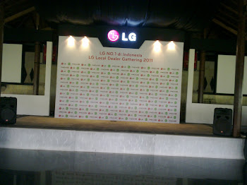 9 Communication Jogja Backdrop LG Dealer Gathering