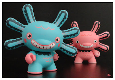 San Diego Comic-Con 2012 Exclusive Wooper Looper Custom 3 Inch Dunnys by Gary Ham