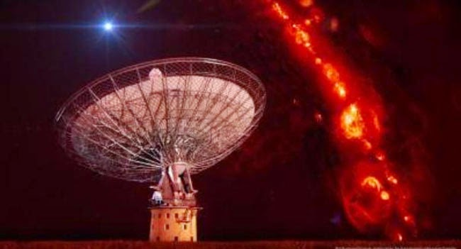 Emitted mysterious radio signals