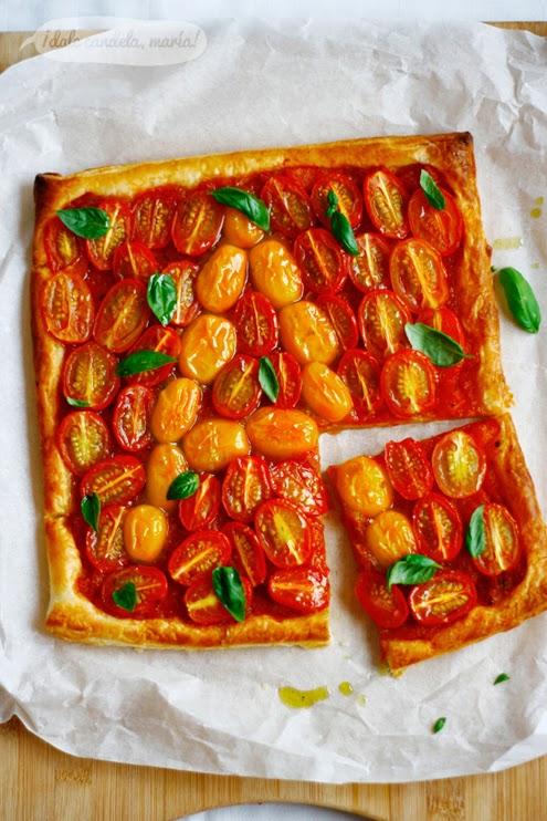 Hojaldre con tomates cherry orgánicos