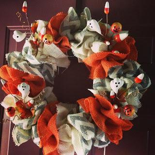 Backspace Boutique Halloween Burlap Wreath   The M House